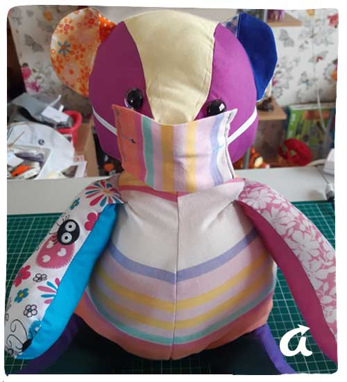 Rainbow Teddy Bear - Sew good!